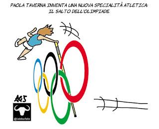 olimpiadi, paola taverna, m5s, sport, vignetta, satira