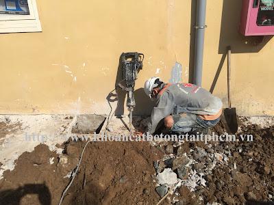 Khoan cắt bê tông tại huyện Ninh Sơn