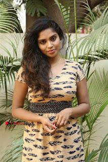 Telugu Actress Karunya Chowdary Stills in Short Dress at ATM Not Working Press Meet  0094.jpg