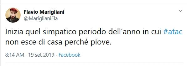 Situazione del trasporto pubblico di Roma giovedì 19 settembre