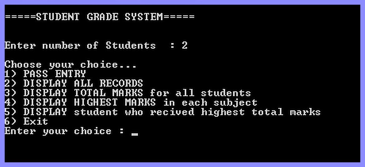 Free Programming Source Codes To All: Student Grading System in Java