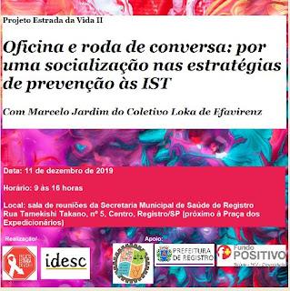 Oficina e roda de conversa: por uma socialização nas estratégias de prevenção às IST