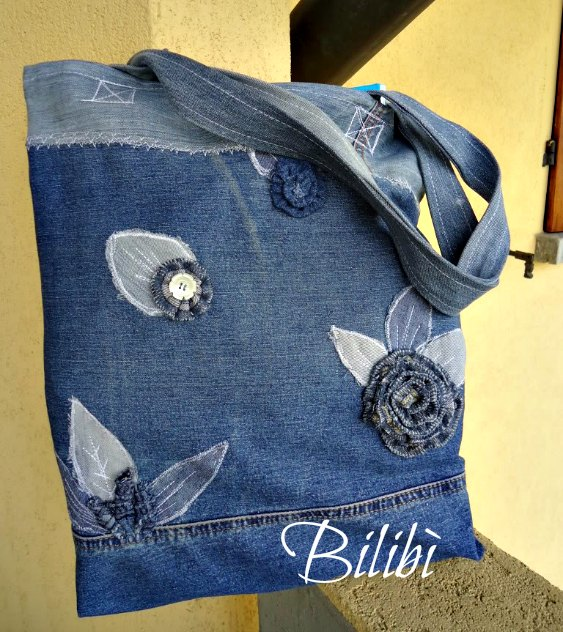 Bilib borsa shopper in jeans for Borsa jeans tutorial