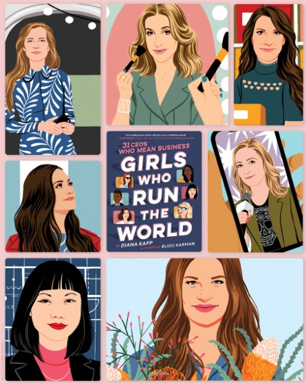 Girls Who Run the World by Diana Kapp and Illustrated by Bijou Karman