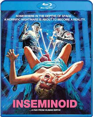 Cover art for Scream Factory's new Blu-ray release of INSEMINOID (aka HORROR PLANET)!