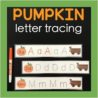 pumpkin alphabet letters tracing