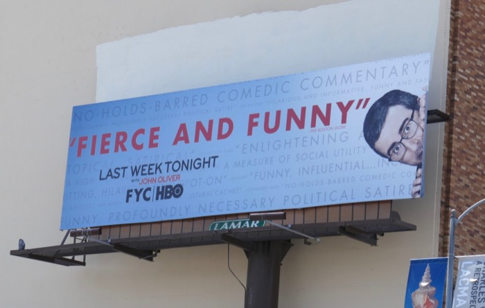 John Oliver season 6 Emmy FYC billboard