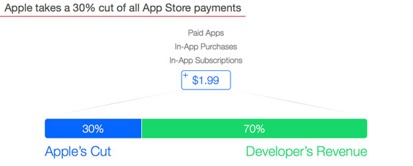 Apple's 30% Cut On Subscription IAP