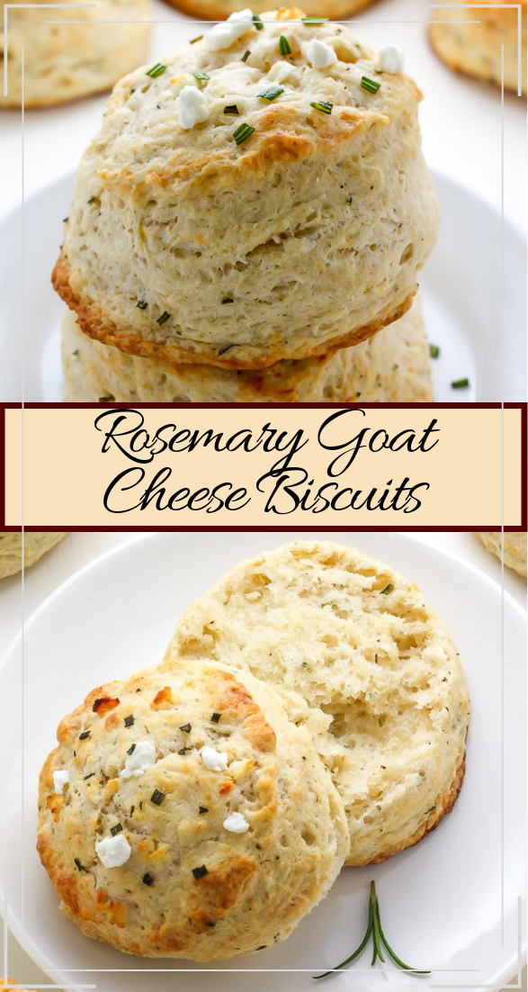 Rosemary Goat Cheese Biscuits #vegan #vegetarian #soup #breakfast #lunch