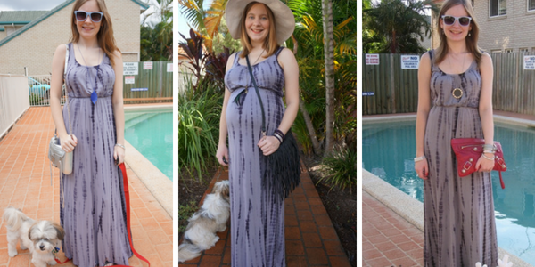ways to wear a tie dye maxi dress in summer | awayfromtheblue
