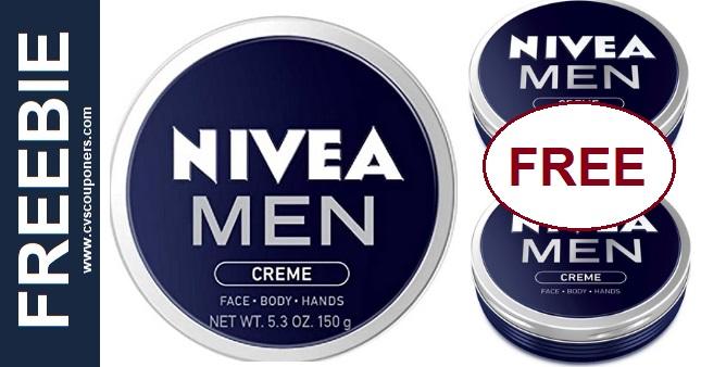 FREE Nivea Men Face Hand & Body Cream CVS