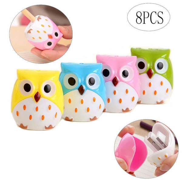Owl Pencil Sharpeners #christmasgiftideas #giftsforkids