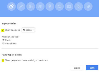 Cara Menyembunyinkan Circle di Google Plus teman / groups / followers