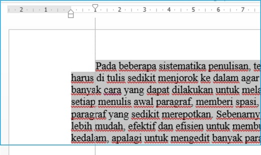 Cara Membuat Tulisan Awal Paragraf Menjorok Kedalam Pada Ms Word Tutorial Ms Office