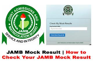 jamb mock result