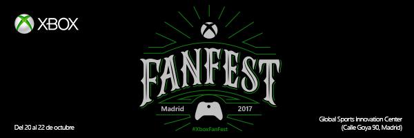 Se anuncia Xbox Fan Fest en Madrid para el 20 de octubre