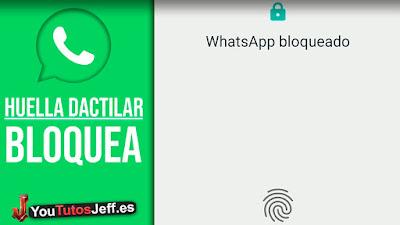 Como Bloquear Whatsapp con Huella Dactilar