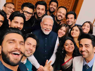 Ranbir Kapoor With Bollywood Star And Narendra Modi