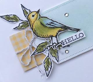 How to video of Simple Bird Ballard Birthday Cards....