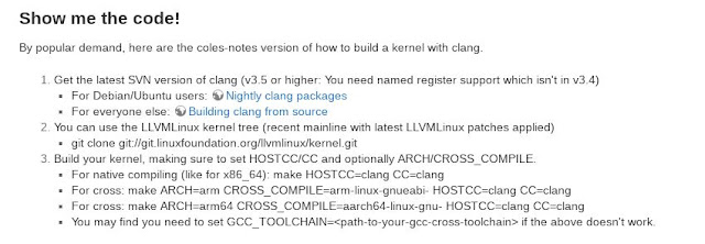 como compilar o kernel Linux usando o LLVM