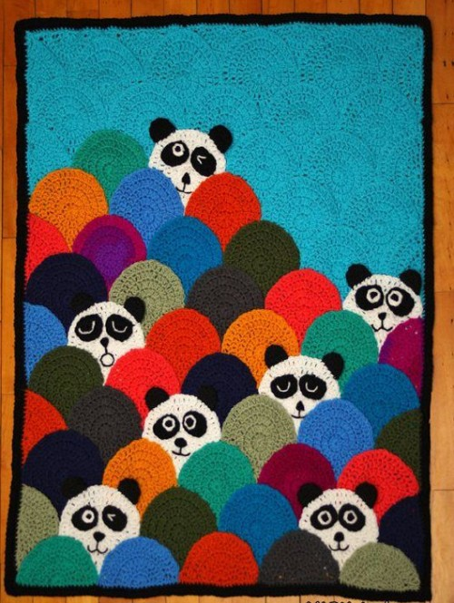 Roly Poly Panda Quilt - Crochet Tutorial