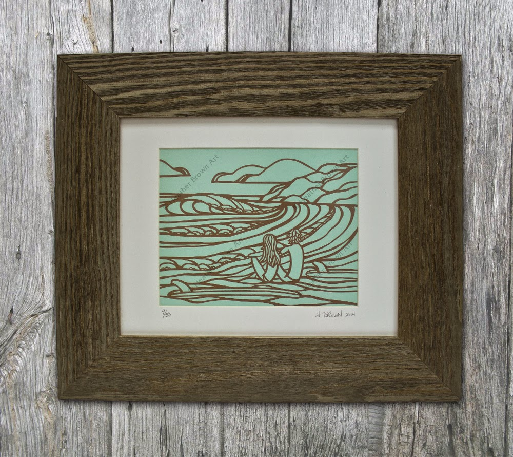 framed surf art