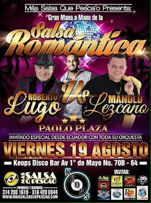 ► Roberto Lugo, Manolo Lezcano y Paolo Plaza en Concierto