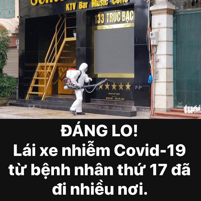 Lái xe của bệnh nhân dương tính đã đi nhiều nơi dù dương tính với COVID-19.