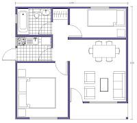 plano-casa buin 36 metros cuadrados