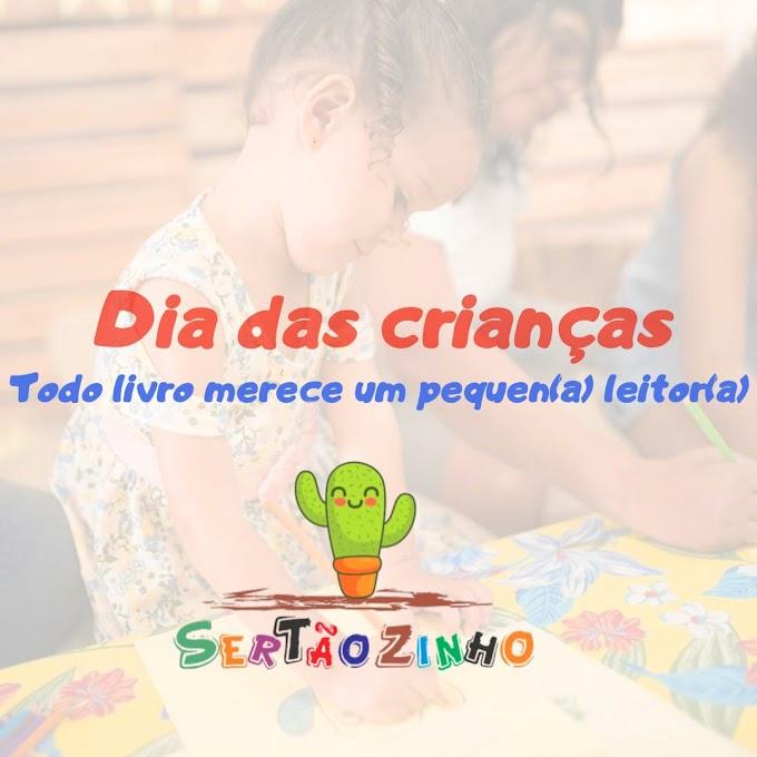 Sertão Livraria e Café promove campanha 'Ler também é brincar' no mês das crianças