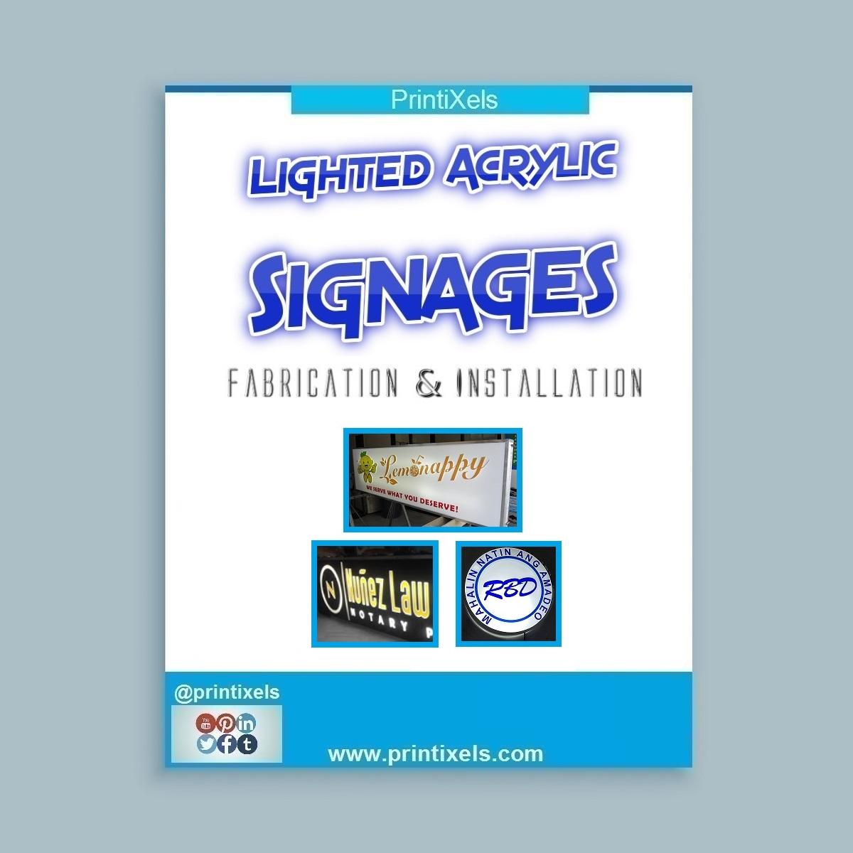 Lighted Acrylic Signages - Fabrication & Installation