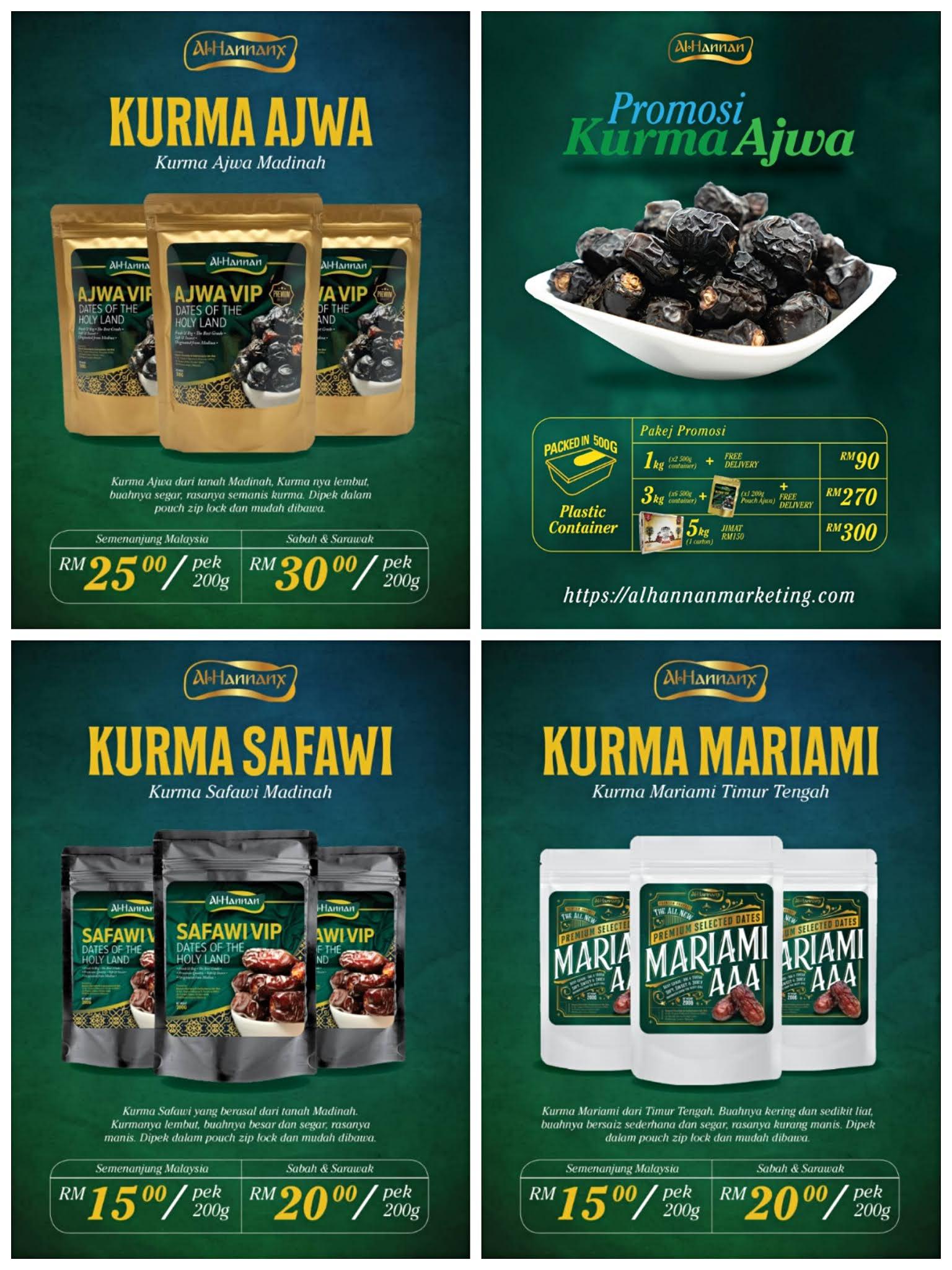 Al Hannan, Pembekal Kurma Premium pada harga borong.