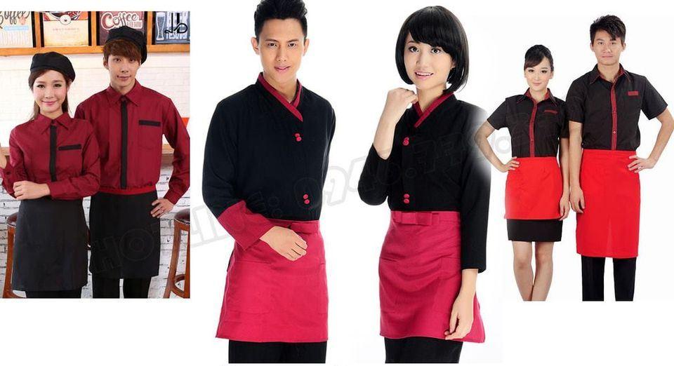Mẫu tạp dề đồng phục nhà hàng, quán ăn