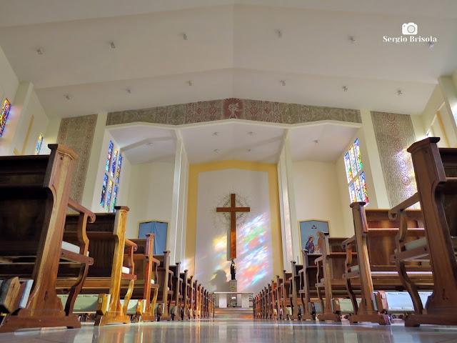 Perspectiva artistica do interior da Paróquia Santa Rita De Cássia - Mirandópolis - São Paulo