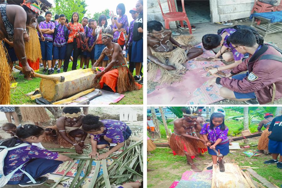 Outing Class di Kampung Kamoro dan Baksos SMP