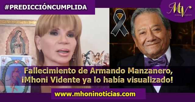 Armando Manzanero lamentablemente perdió la vida; ¡Mhoni Vidente ya lo había visualizado!