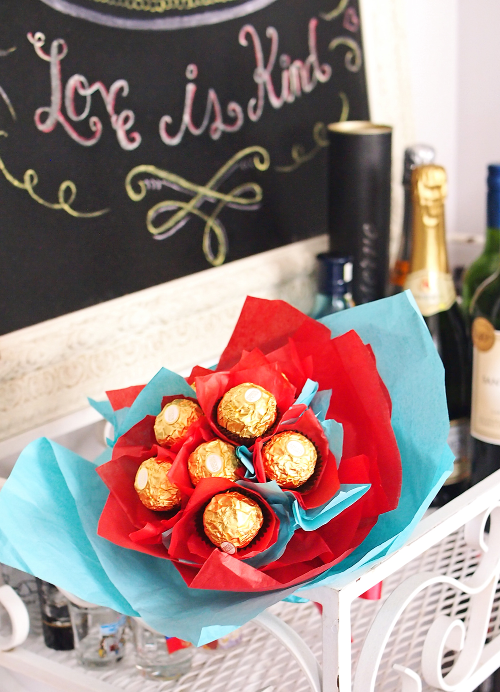 Fererro Rocher Chocolate Bouquet - DIY holiday gift ideas