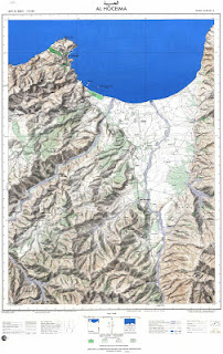 Carte Topographique AL-HOUCEIMA Morocco 50000 (50k) Topographic map free download