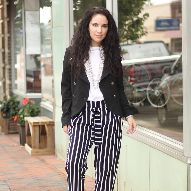 Family Dollar Striped Pants