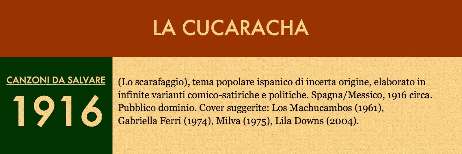 check out 0888b f55bb La versione a noi più nota de La cucaracha, concepita tra il 1913 e il 1916  e incisa nel 1917 dalla Conway s Band (Victor) e nel 1920 dal baritono  Claudio ...