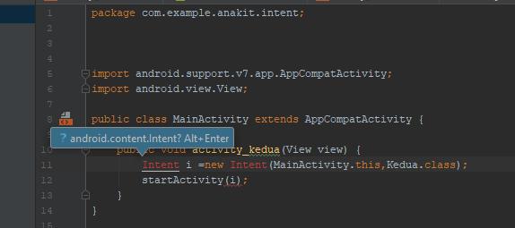 Pengguaan Intent Untuk Menjalankan Activity Lain di Android studio