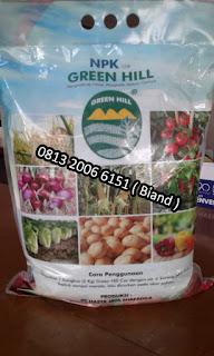 Bagian Belakang Pupuk NPK Green Hill Cor Kemasan 5 Kg Hasya Jaya