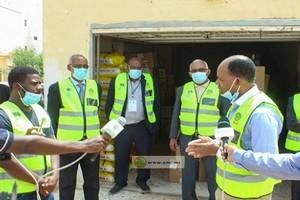 Nouakchott : début de l'opération de distribution d'aides sociales aux populations