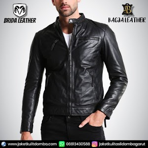Jual Jaket Kulit Asli Garut Pria Domba Original Brida Leather B73 | WA 08813430588