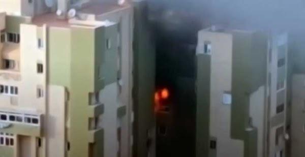 Heridos en Incendio vivienda de Jinámar, Telde