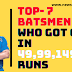 Top-7 Players to Got out on 49-99-149 Runs (Most times in ODI), 2 are Indian
