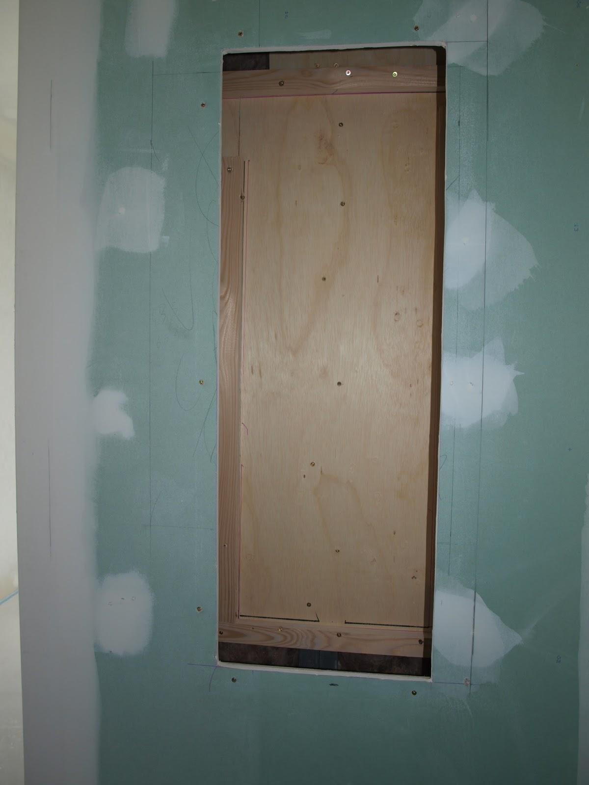 une niche dans la douche italienne de la suite parentale 4 murs 1 toit plat. Black Bedroom Furniture Sets. Home Design Ideas