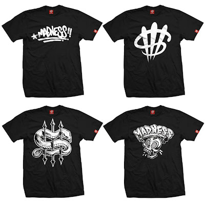 Madness Brand T-Shirt Collection by MAD - Hand Tag, Big Money Logo, Year of the Snake & Madness Skull