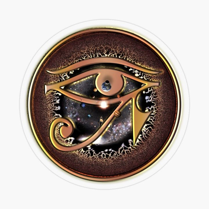 Horus Eye and the Universe sticker or T-shirt
