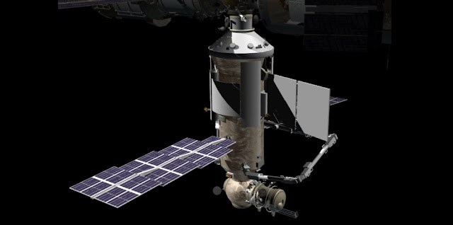 Artist's rendering of the Nauka module docked to ISS. Credit: NASA